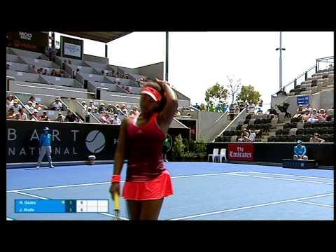 Naomi Osaka v Jarmila Wolfe full match (1R)   Hobart International 2016