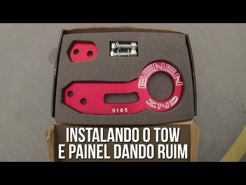 INSTALAÇÃO DO TOW HOOK E PAINEL DANDO RUIM