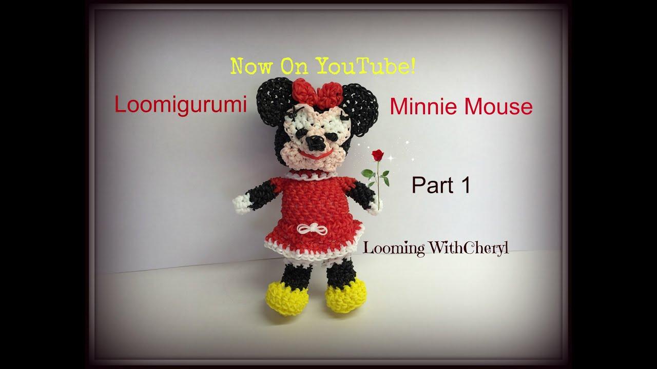 Rainbow Loom Amigurumi Mouse : Rainbow Loom Minnie Mouse -1 of 2- Loomigurumi - Amigurumi ...