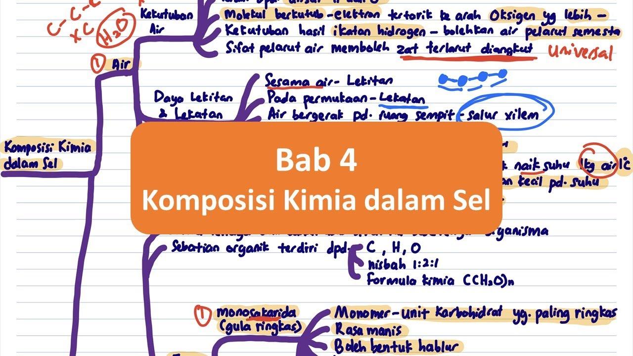 Biologi Spm T4 Bab 4 Komposisi Kimia Dalam Sel Youtube