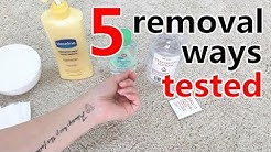 How to apply & remove temporary tattoos | 5 removal ways tested