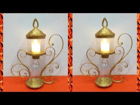 Best Out of Waste || Plastic Bottle Craft || DIY LED Candle Holder ||