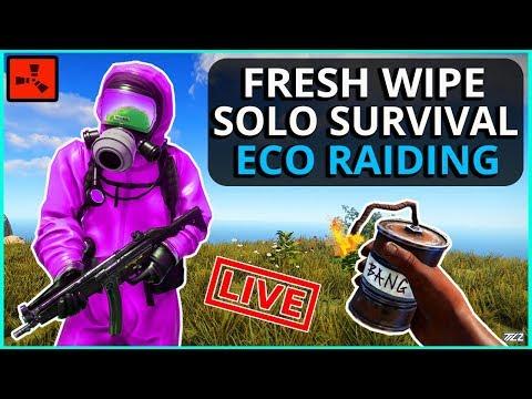 Fresh Wipe SOLO Survival!! We got Satchels, Let's use em to RAID! - Fresh Wipe SOLO Survival!! We got Satchels, Let's use em to RAID!