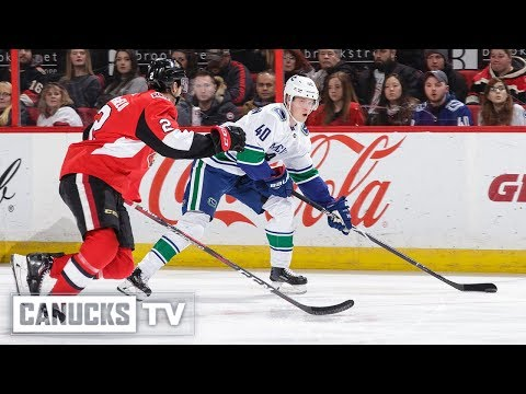 Elias Pettersson Records First Career Hat-Trick vs Ottawa Senators (Jan. 02, 2019)