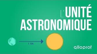 Alloprof - L'unité astronomique (sciences)