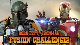 How to Draw Boba Fett + Ironman Fusion | ART CHALLENGE