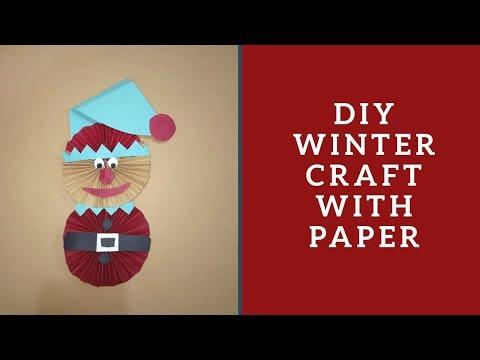 DIY Elf With Paper    Winter Craft Ideas    Little Learners Corner