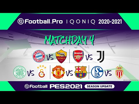 PES | eFootball.Pro IQONIQ 2020-21 | MATCHDAY 4 | FC Bayern München vs AS Roma (Featured Match)