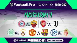 PES | eFootball.Pro IQONIQ 2020-21 | MATCHDAY 4 | FC Bayern München vs AS Roma (Featured Match)