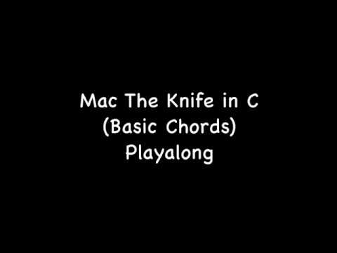 Ukulele Play Along Mack The Knife In C Basic Chords Youtube