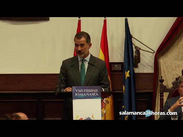 Discurso del Rey Felipe VI en la apertura del curso universitario en Salamanca