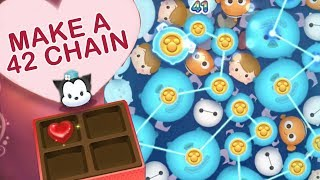 Disney Tsum Tsum: How To Make A 42 Chain in the Sweetheart Event