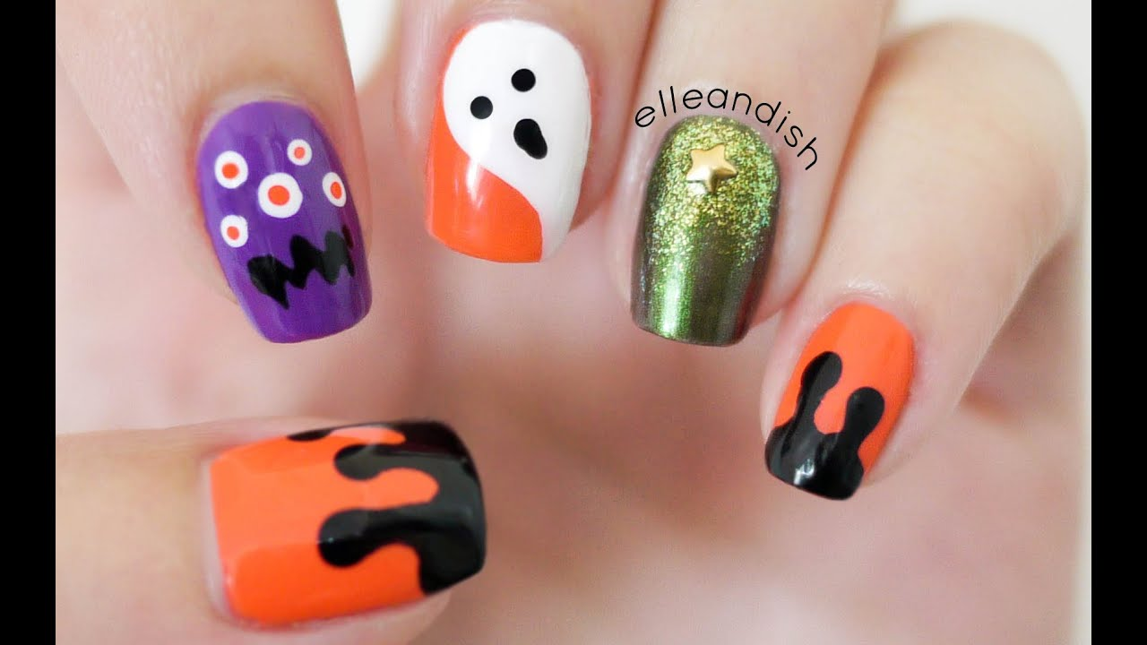 No Nail Tools Halloween Nails Youtube