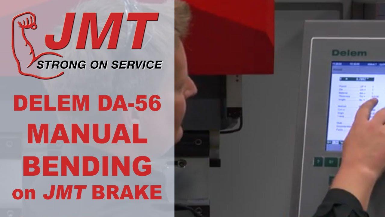 press brake delem da 56 manual bending demo on a 12 jmt youtube rh youtube com Owner's Manual Parts Manual