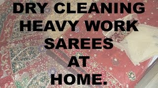 HOW TO DRY CLEAN LEHNGA AND HEAVY SAREES  AT HOME