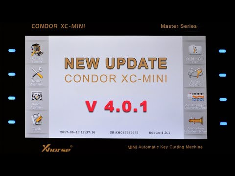 HOW TO UPDATE CONDOR XC-MINI V 4.0.1