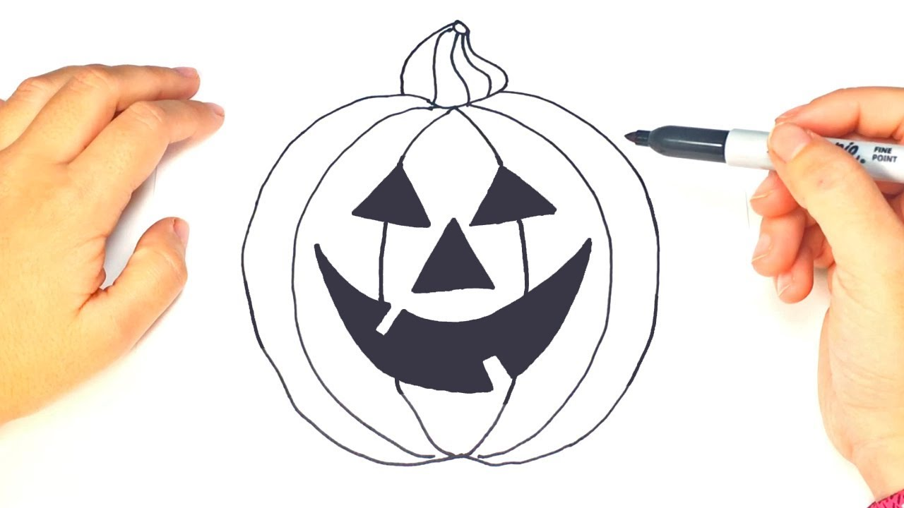Como Dibujar Una Calabaza De Halloween Dibujos Halloween Youtube