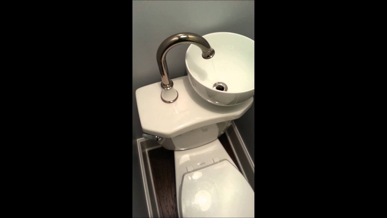 Space U0026 Water Saving Sink Toilet Combo   YouTube