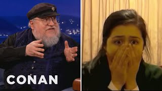 "George R. R. Martin Watches ""Red Wedding"" Reaction Videos - CONAN on TBS"