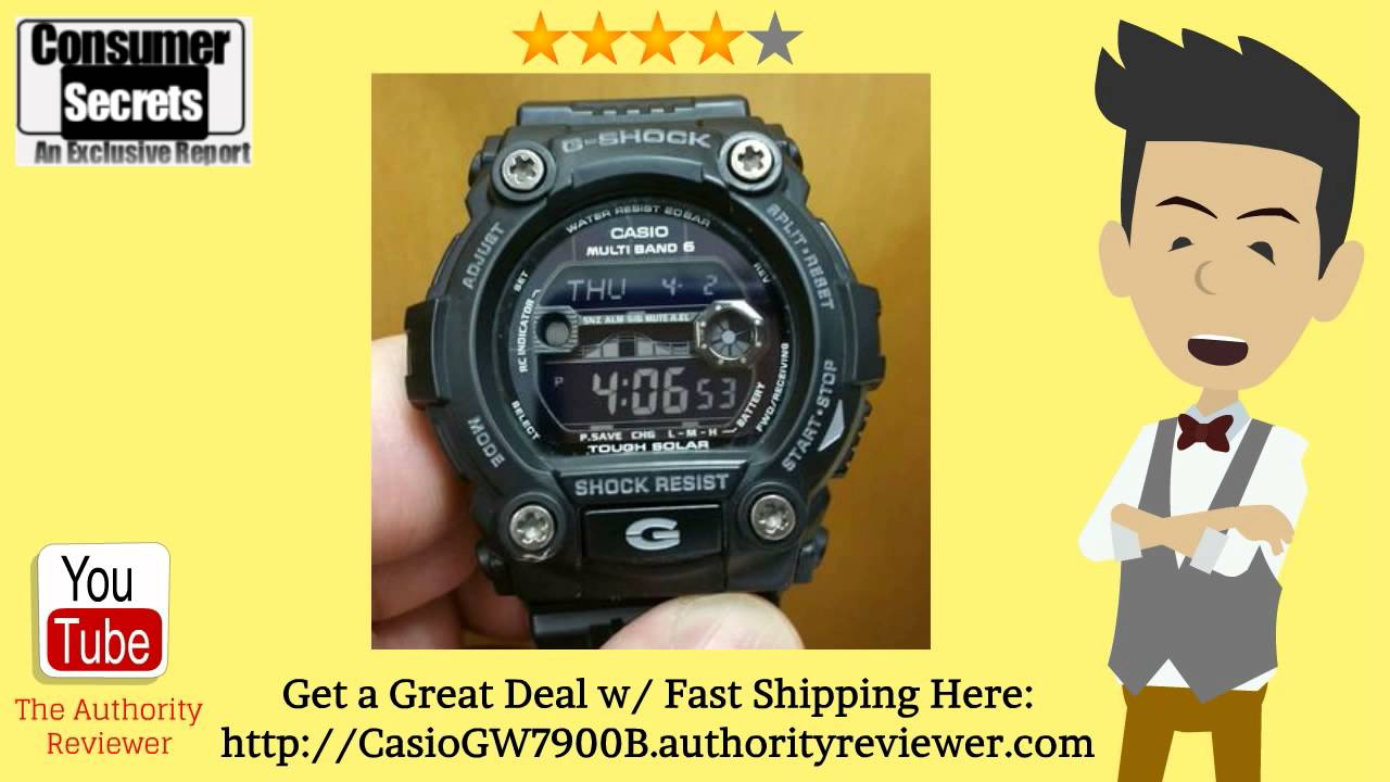 4edc77a6d78b  Review   SALE  Casio Men s GW7900B-1 G-Shock Black Solar Sport Watch -  YouTube