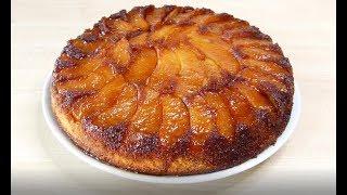 Пирог-перевёртыш с карамелизированными яблоками.