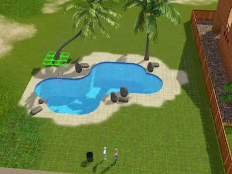 How to build a cool swimming pool sims 3 youtube for Pool design sims 4