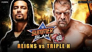 WWE Summerslam 2014 - Roman Reigns vs Triple H - Summerslam 2014 Full Match HD