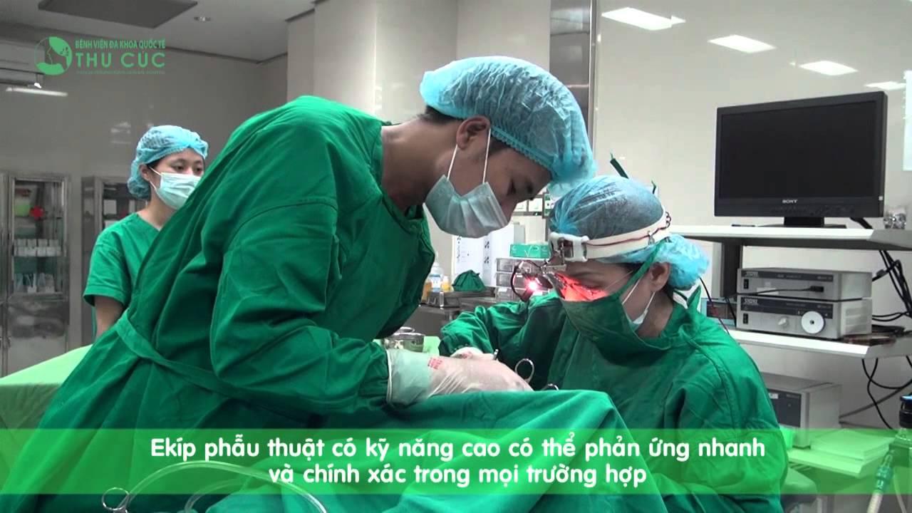 Khám và phẫu thuật V.A cho trẻ tại Bệnh viện đa khoa quốc tế Thu Cúc