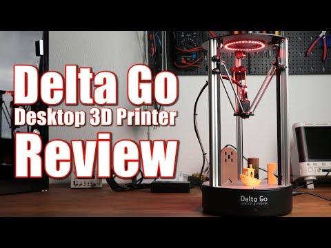 Delta Go - Desktop 3D Printer Review    $450 Delta 3D Printer