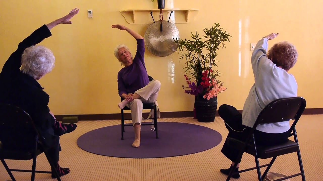 Chair yoga elderly - Strong And Flexible Hips For Seniors Seated And Standing Chair Yoga Sequences Youtube