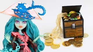 How to a Minecraft inspired  Doll Chest - Easy Doll Crafts