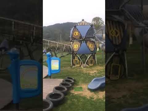 High Quality Kids Wooden Game Outdoor Slide Playground Equipment Set