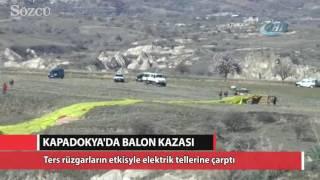 Kapadokaya'da balon kazası