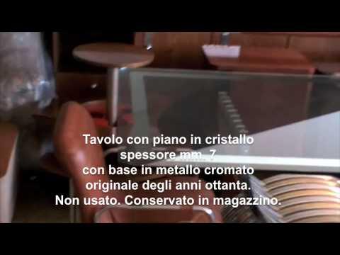 Tavolo rettangolare per sala conferenze o soggiorno con piano in cristallo 7mm youtube - Tavolo cristallo rettangolare usato ...