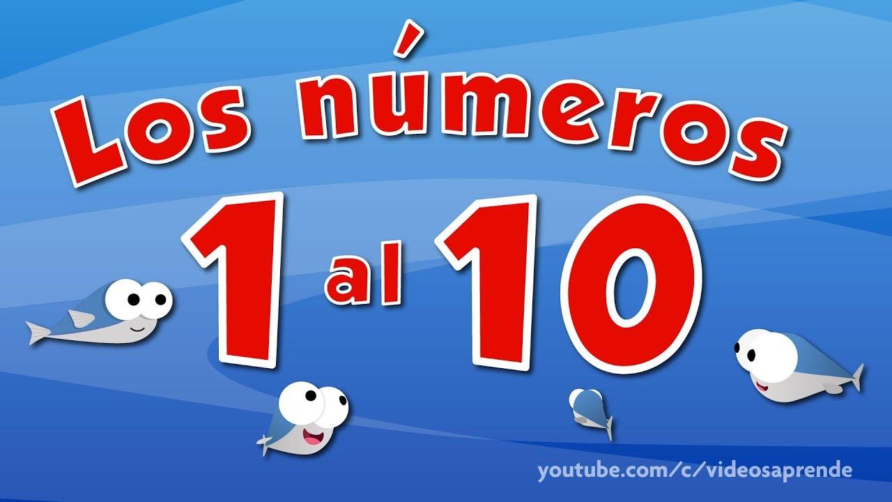 Numero 10 Con Imagenes: Los Números Del 1 Al 10 En Español Para Niños
