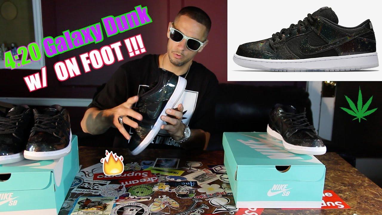 Nike SB Dunk ☆ 420 Intergalactic ☆ TRD QS Galaxy w/ On Feet !!!