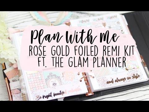 PLAN WITH ME: Ft. Glam Planner Foiled Inserts! + My A5 Setup