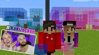 KAANS MÄDCHEN GLAS HAUS vs NINAS JUNGEN GLAS HAUS! Minecraft Build Battle Welches Haus ist schöner?