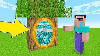 Minecraft Battle - NOOB vs PRO : HOW NOOB FOUND THIS SECRET PORTAL IN TREE ?! (Animation)