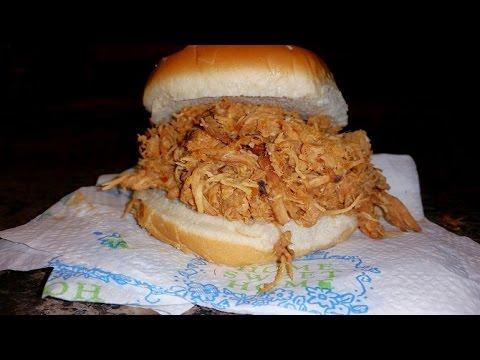 Crock-Pot BBQ Pulled Chicken Sandwich: George's BBQ Sauce