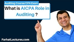 Role of AICPA in Auditing | Auditing and Attestation | CPA Exam