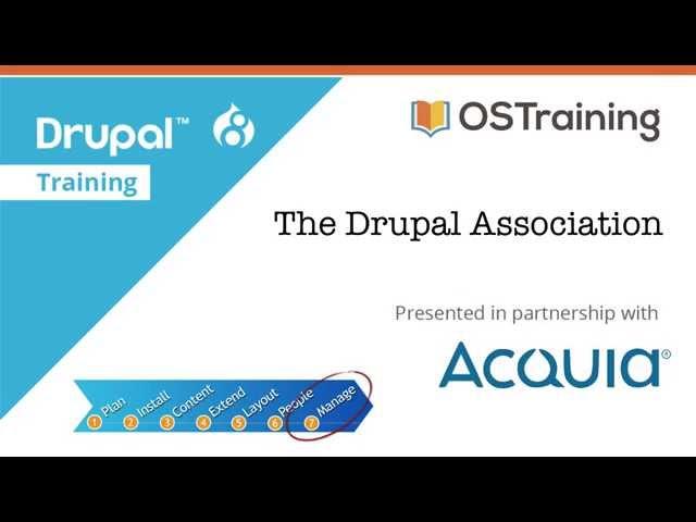 Drupal 8 Beginner, Lesson 62: The Drupal Assocation