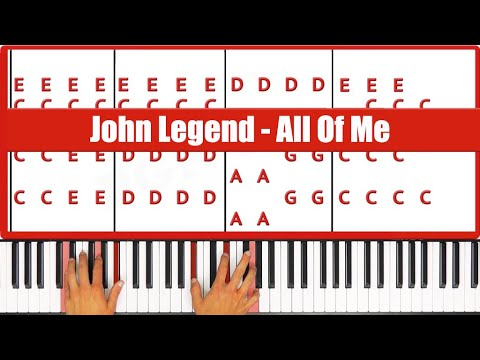 Piano easy piano chords for beginners : ♫ EASY - How To Play All Of Me John Legend Piano Tutorial Lesson ...