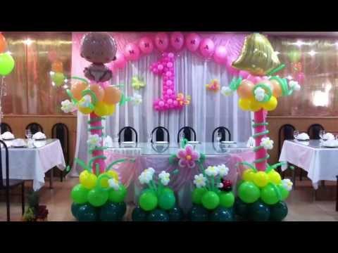 Оформление шарами Дня рождения.Кафе Харбин Decorating with balloons birthday.