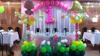 Оформление шарами Дня рождения.Кафе