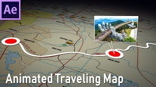 How to make animated travel map in After Effects