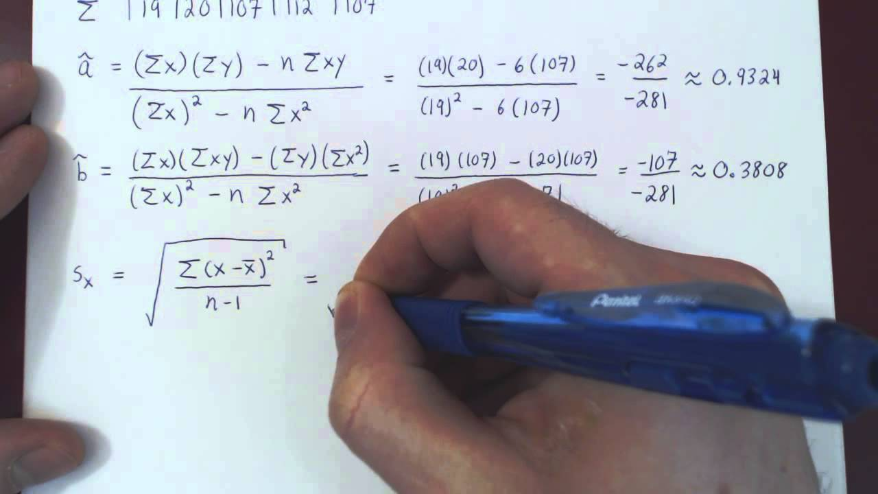 Linear regression problems with solutions.
