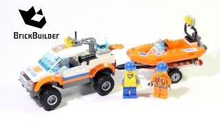 Lego City 60012 4x4 & Diving Boat - Lego Speed Build