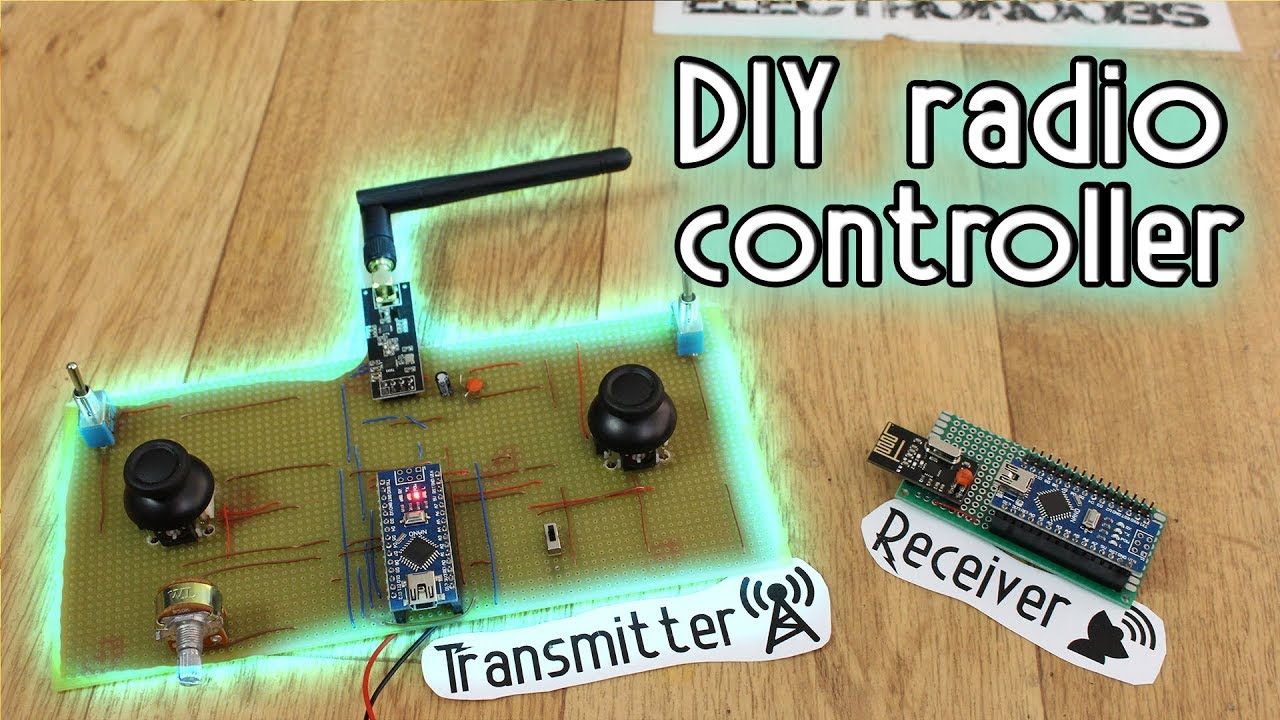 DIY Radio Controller - Arduino & NRF24 + amplified antenna