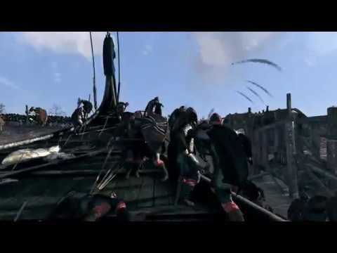 Viking Beach Assault Cinematic Movie   Total War Saga: Thrones of Britannia  